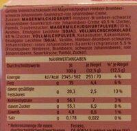 Yogurette Berry cherry - Nährwertangaben - de
