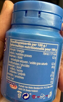 Mentos peppermint - Informations nutritionnelles - fr