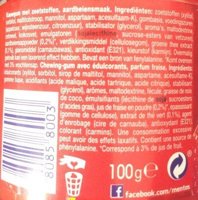 mentos PURE FRESH goût fraise - Ingrédients - nl