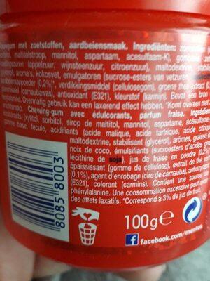 mentos PURE FRESH goût fraise - Informations nutritionnelles