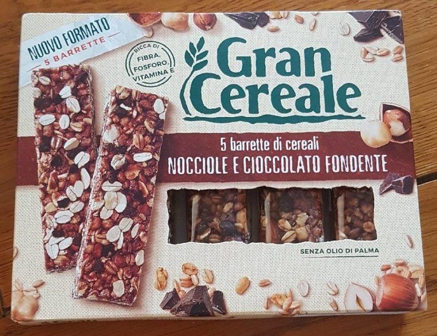 5 barrette di cereali, Nocciole e cioccolato fondente - Product - it