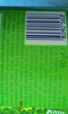 chewing-gum fresh citrus au thé vert - Ingrédients - fr