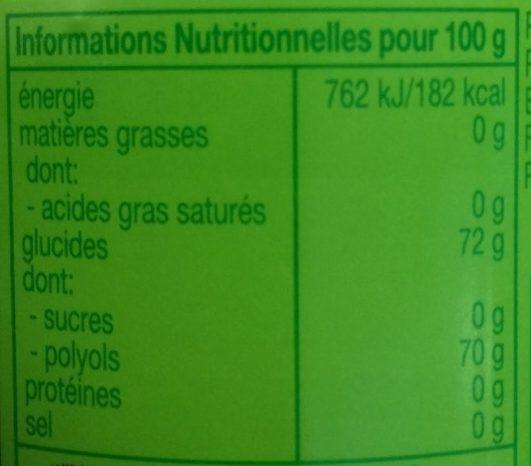 chewing-gum fresh citrus au thé vert - Informations nutritionnelles - fr