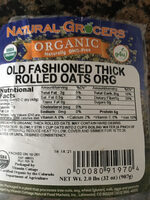 Old fashioned thick rolled oats .org - Product