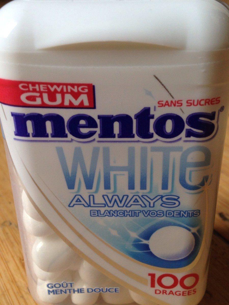 Mentos white always - Produit