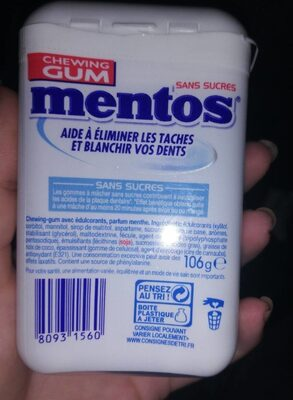 Mentos white always - Informations nutritionnelles - fr