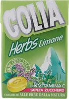 Golia Herbs Limone Con Vitamina C Senza Zucchero Senza Glutine - Produit - it