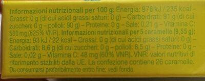 Golia Herbs Limone Con Vitamina C Senza Zucchero Senza Glutine - Informations nutritionnelles - it