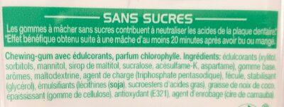 Mentos gum chloro - Nutrition facts - fr