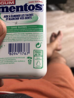 Mentos gum chloro - Recycling instructions and/or packaging information - fr