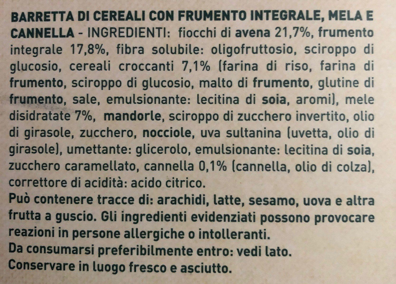 Barre de cereale - Ingrediënten - fr