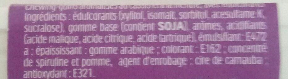 Tic tac gum - Ingredienti - fr