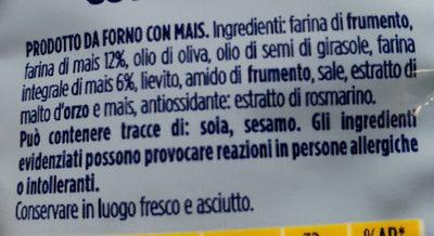 Gran Pavesi - i tocchetti mais cotti al forno - Ingredients - en