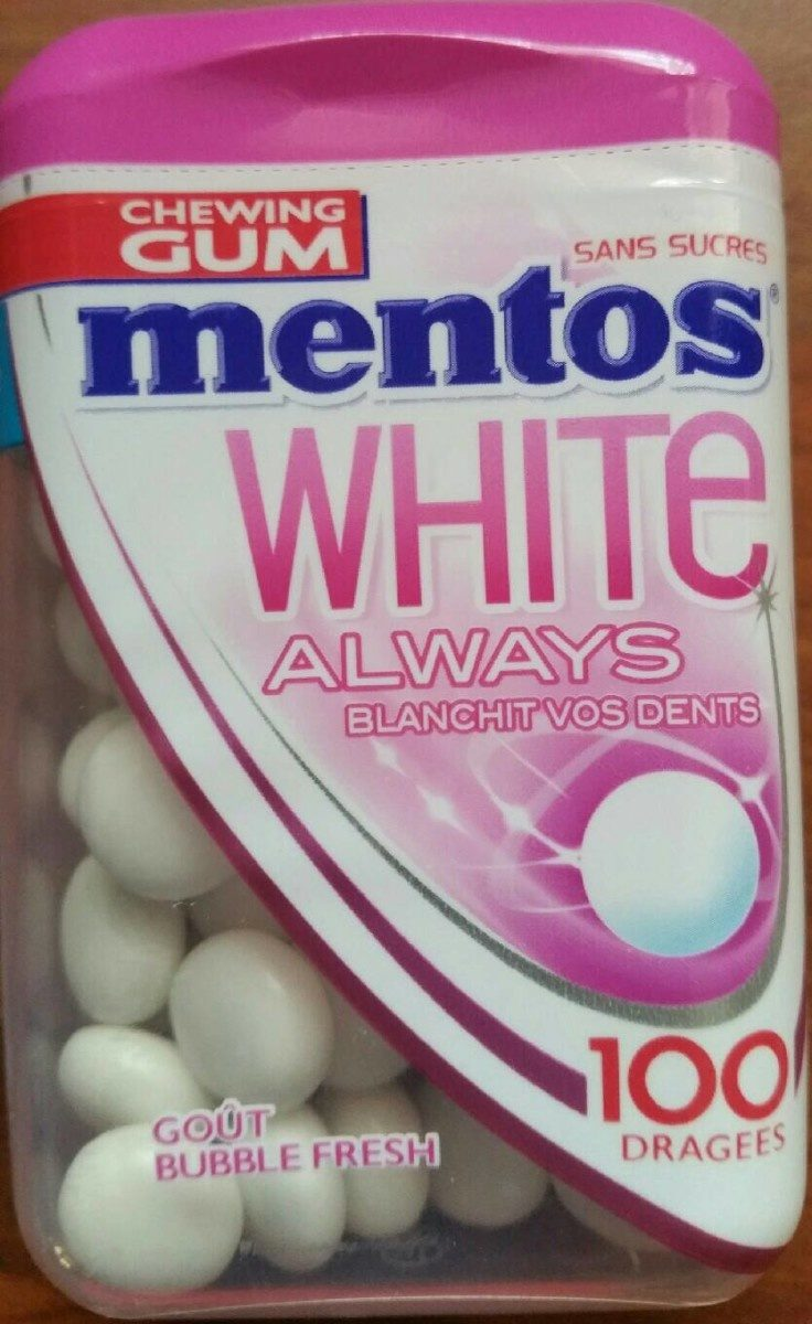 Mentos White always Goût Bubble Fresh - Produit - fr