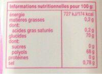 Mentos White always Goût Bubble Fresh - Informations nutritionnelles - fr
