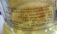 Thunfischfilets - Nährwertangaben - fr