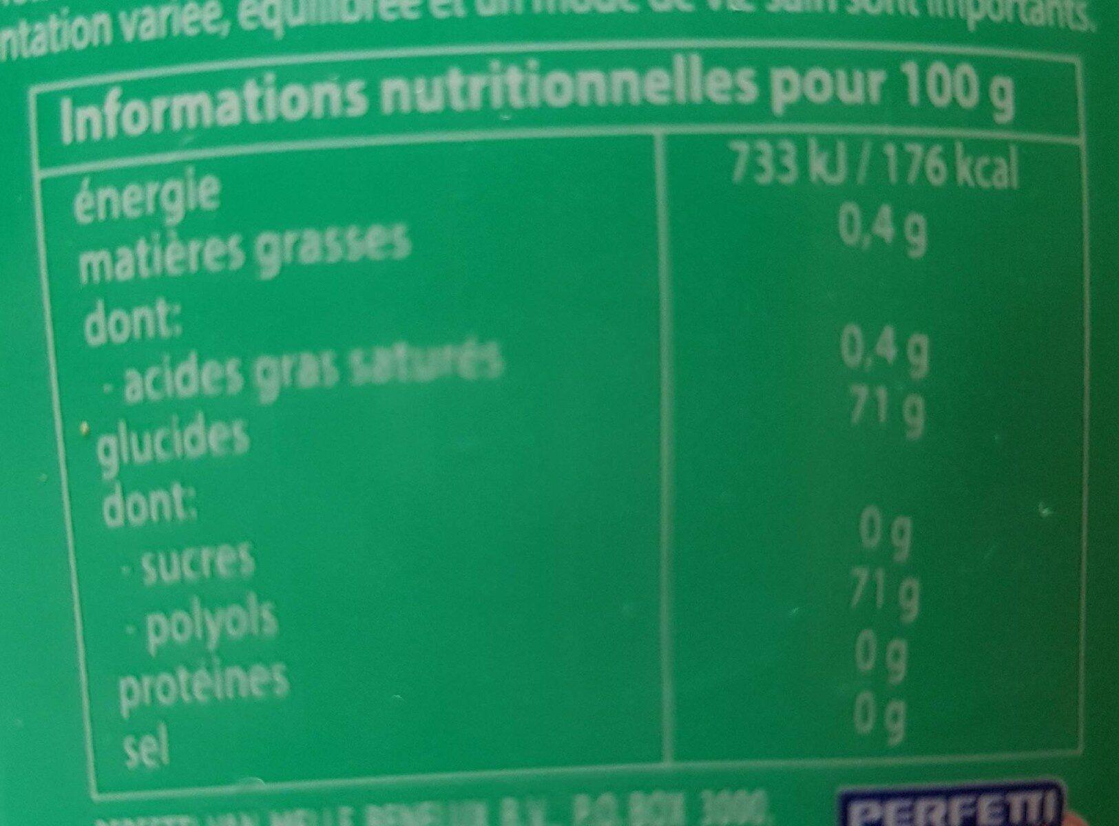 MENTOS ICE CUP - Informations nutritionnelles - en