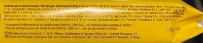 Tuc cracker - Informazioni nutrizionali - en