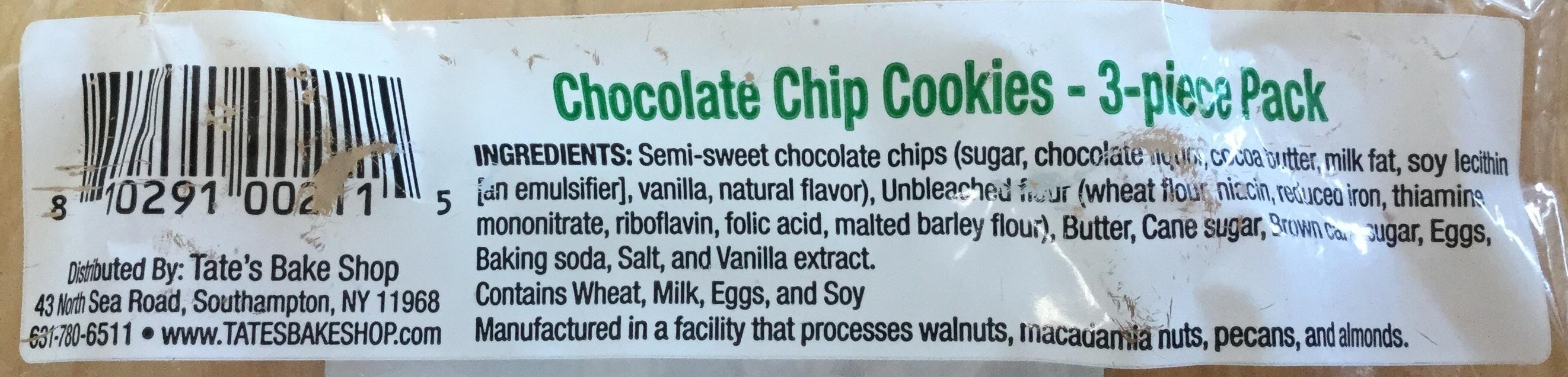 Chocolate chip cookies - Ingredients - en