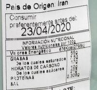 Almendra frita - Información nutricional - es