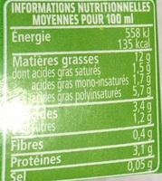Soja du Sud-Ouest Spécial Cuisine - Valori nutrizionali - fr