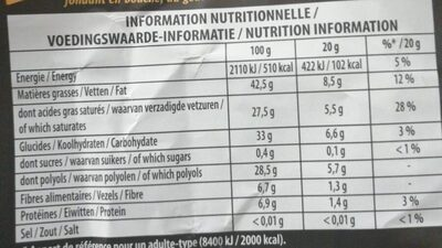 Chocolat Ligne Gourmande - Informations nutritionnelles - fr