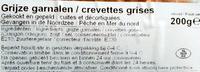 Crevettes grises cuites et décortiquées - Ingrediënten - fr