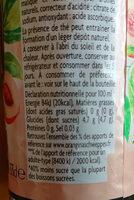boisson rafraîchissante à l'infusion de thé noir aromatisée pêche blanche - Informations nutritionnelles - fr