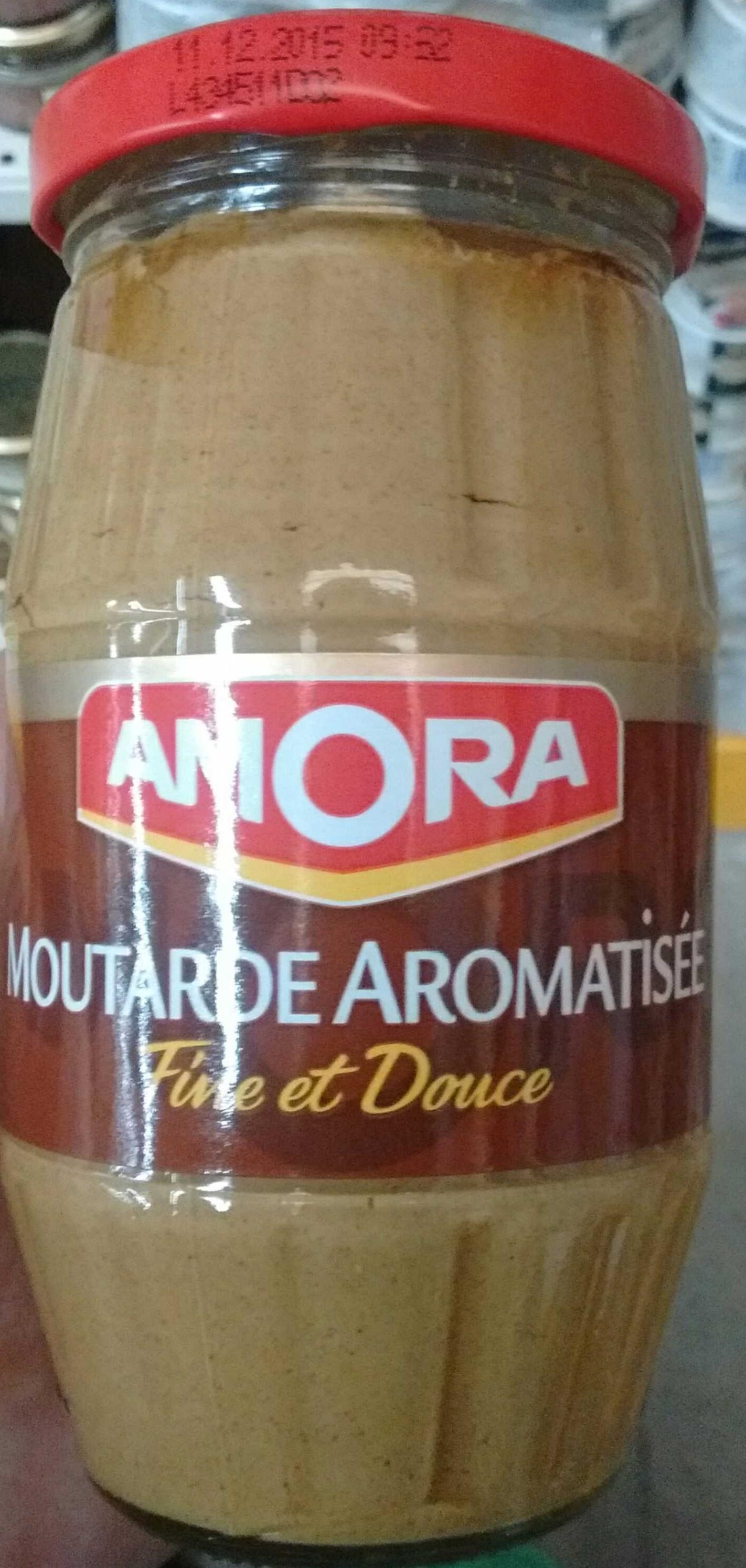 Moutarde aromatisée fine et douce - Amora - 265 g