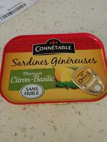 Sardines Généreuses - Produit