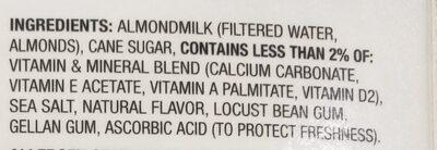 Silk Almond - Ingredients - en