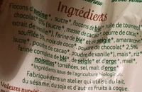 Céréales croustillantes - Ingredients