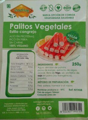 Palitos Vegetales Estilo Cangrejo - Product