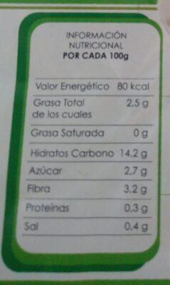 Palitos Vegetales Estilo Cangrejo - Voedingswaarden
