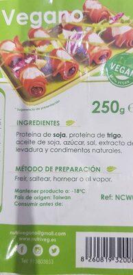 Bacon vegano - Ingrediënten