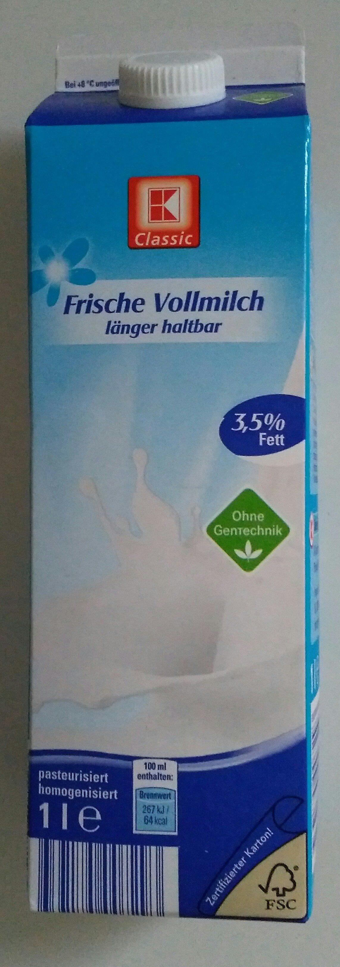 K Classic Frische Vollmilch 3,5% Fett - Product