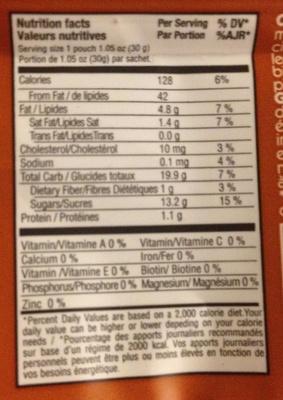 gaufre caramel - Voedigswaarden