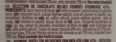Assorted luxury chocolate tasting - Ingredients