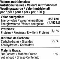 Fideos de arroz - Informació nutricional