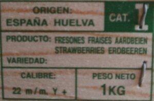Fraises - Ingrediënten - es