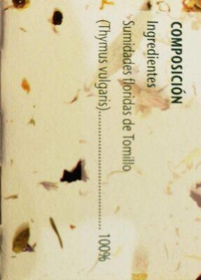 Infusión de tomillo / Infusió de farigola - Nutrition facts