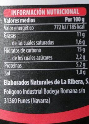 Tortilla fresca de papas con cebolla - Valori nutrizionali - es