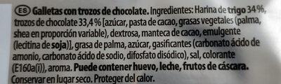 Extra galletas con pepitas xl de chocolate - Ingredients - es