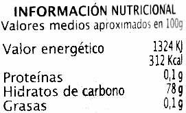 Caramelo Liquido - Informació nutricional