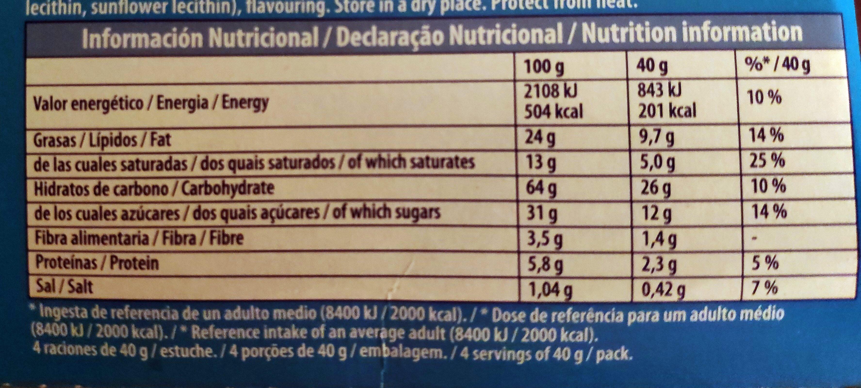 Mini Chips Ahoy! - Informação nutricional - pt