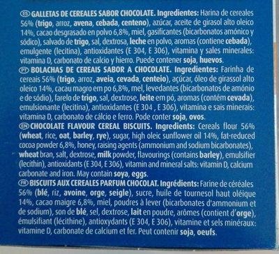Chiquilín OSITOS - Ingredients - fr