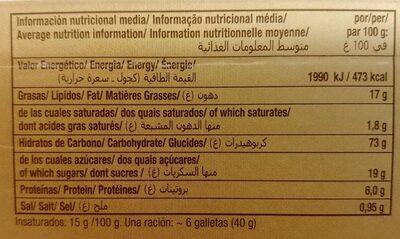 Marbú Dorada - Nutrition facts