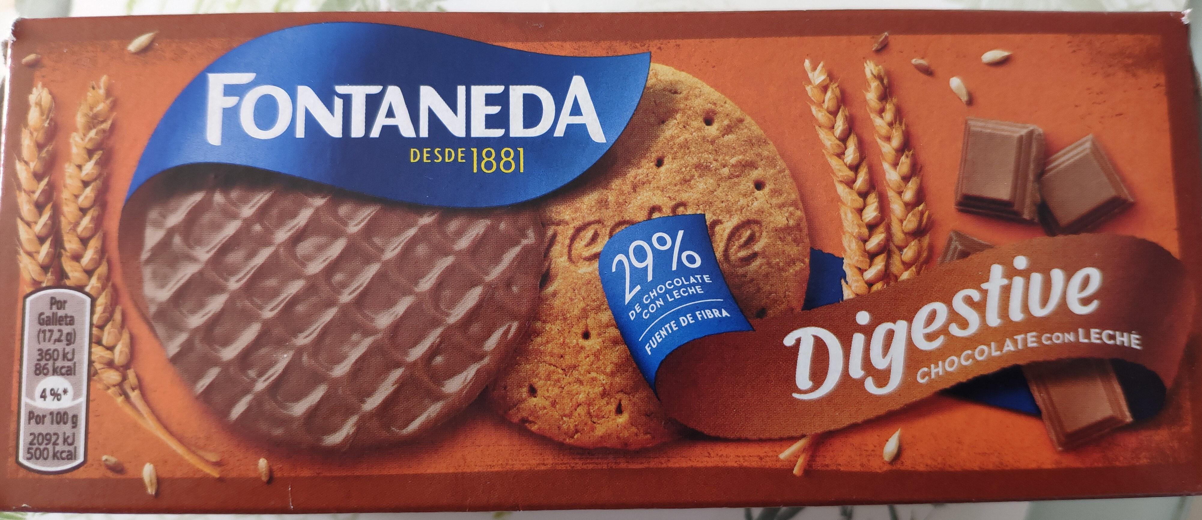 Galletas Digestive con chocolate con leche - Producte - es