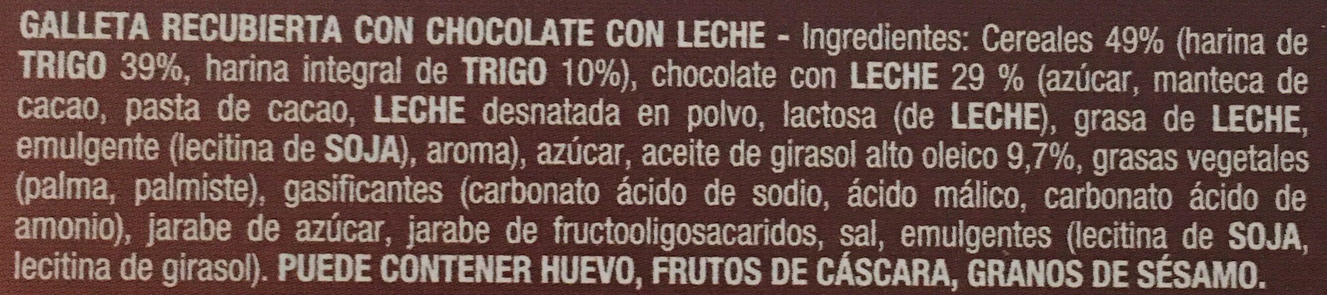 Galletas Digestive con chocolate con leche - Ingredients - es