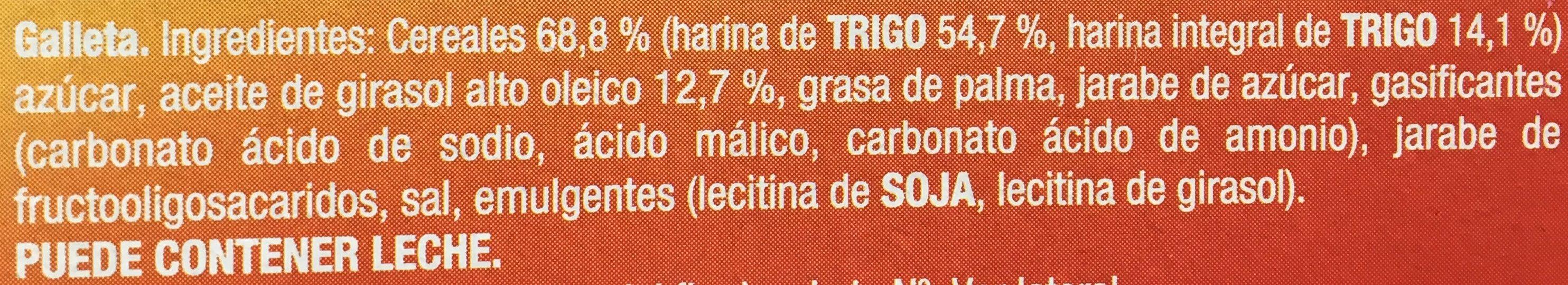 Galleta Fontaneda Digestive Paquete De 400 G 41167 - Ingredientes - es